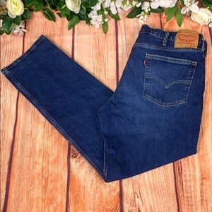 Levi's 514 Relaxed Blue Denim Jeans JE16CH4